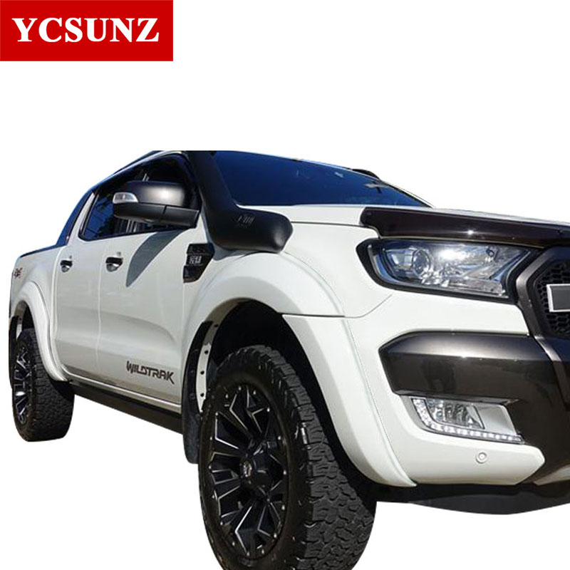 6 inch White Fender Flares Expansion Arches Mudguards For Ford Ranger 2016 2017 2018 T7 Wildtrak