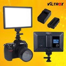 Viltrox L116T ЖК-Дисплей Двухцветный и Затемнения Тонкий DSLR Video LED свет + Аккумулятор + Зарядное Устройство для Canon Nikon DV Камеры Видеокамеры