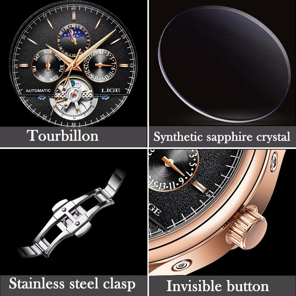 HTB1eVN3aPzuK1Rjy0Fpq6yEpFXau LIGE Brand Men Watches Automatic Mechanical Watch Tourbillon Sport Clock Leather Casual Business Retro Wristwatch Relojes Hombre