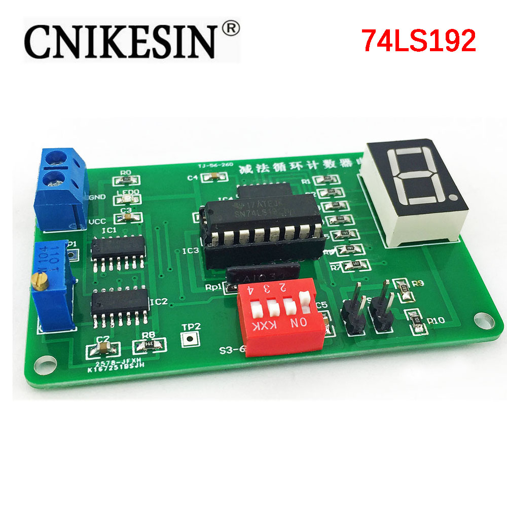 CNIKESIN Diy Subtraction Loop Counter Circuit Kit 74LS192 Parts with Simulation Electronic Suite DIY Digital timer circuit Suite