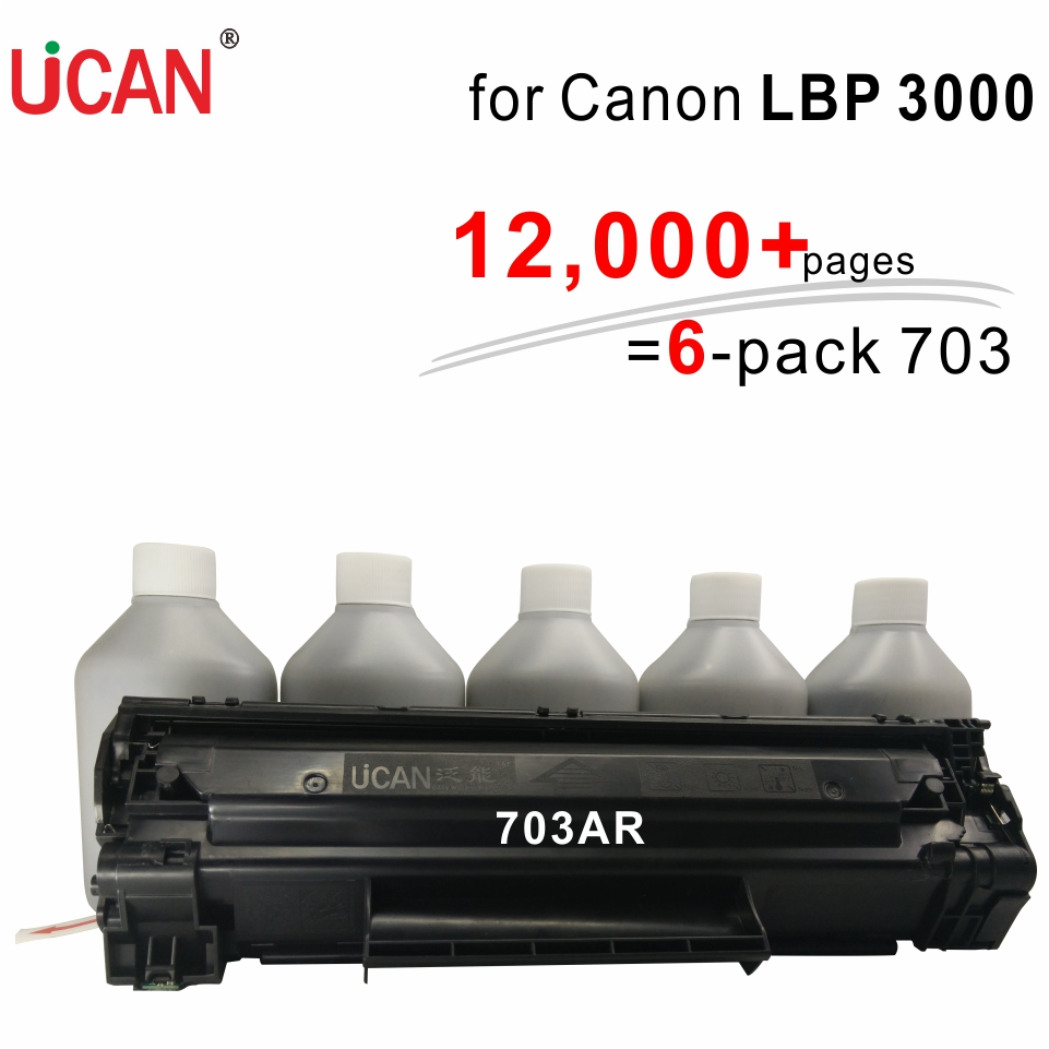 UCAN CTSC(kit) for Canon LBP 3000 Cartridge 103 303 703 12,000 pages  is ordinary 6 times картридж для принтера nv print для canon cartridge 703