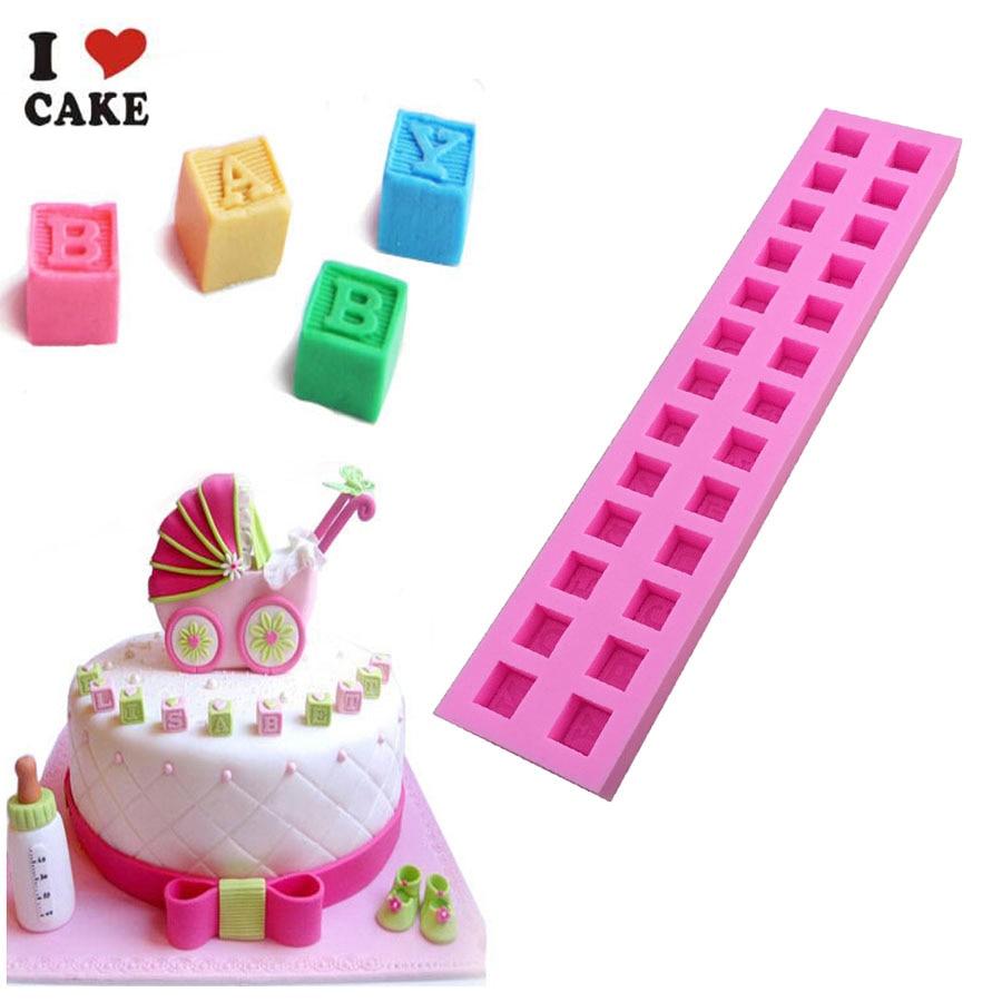 26 Englisch Buchstaben Silikonform Schokoladenfondant Kuchen - Küche, Essen und Bar