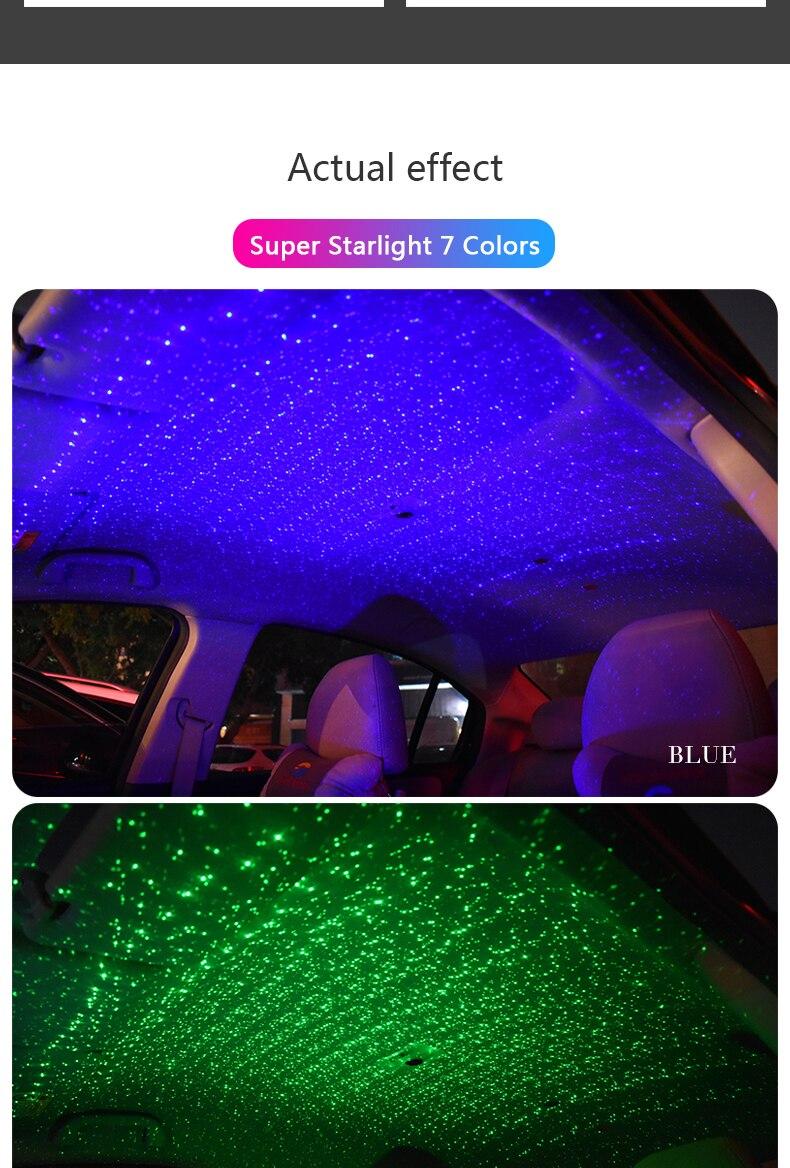 Zjright usb carro dinâmico superior fluxo luz