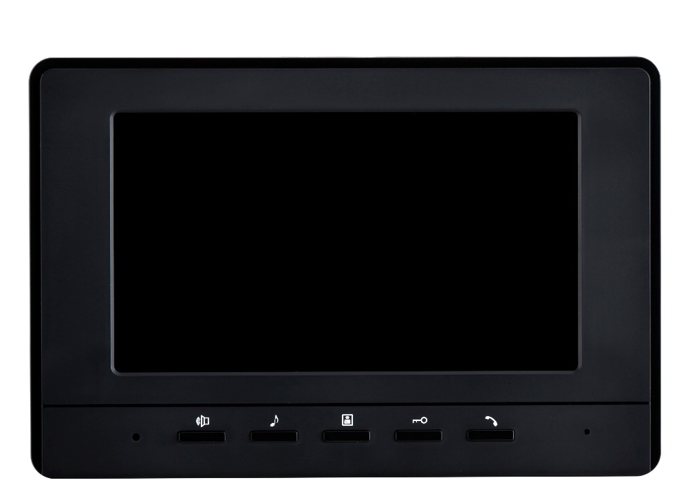7 inch LCD Monitor For Wired Intercom Video Door Phone XLS-V70H Color Black