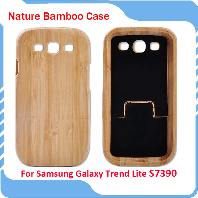 New Arrive Genuine Natural Bamboo Coque For Samsung Galaxy Trend Lite S7390 S7392 Wooden Wood For Samsung GT-S7390 Case Cover