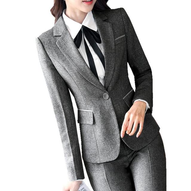 0468778f48fc95 Fmasuth Frauen Büro Hosen Anzug Winter Jacke Blazer + Lange Hosen + Weißes  Hemd 3 Stücke