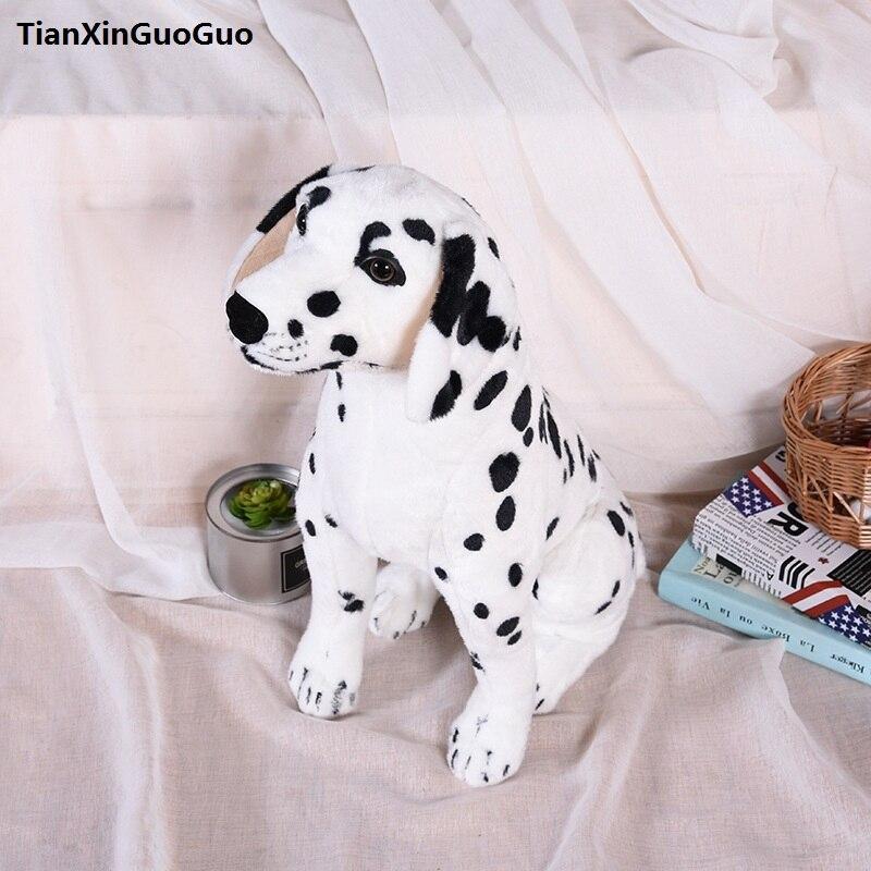 new arrival large 60cm squatting Dalmatian dog plush toy doll throw pillow birthday gift h2305 фурминатор для собак короткошерстных пород furminator short hair large dog