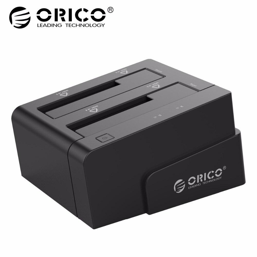 ORICO 6628US3-C 2.5 & 3.5 polegada Docking Station SATA USB3.0 Geral Gabinete de Disco Rígido Externo-Preto