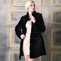 2016 Faux Fur Coat Female Rex Rabbit Fur Coat Women Thick Warm Fur Jacket Parkas Long Mandarin Collar Winter Outwear Coat T0084