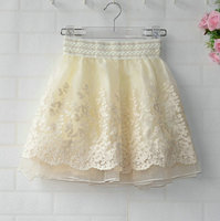Retro Palace Mesh Lace Embroidery Hook Flower Tutu Skirt Skirts Spring And Summer 2013 New Korean