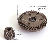 Spiral Bevel Gear Replace For MAKITA  9557NB 9558NB 9558HN 9557NBR 9556HN 9557PB 227541 3 227542 1 227471 8 227464 5 227505 7