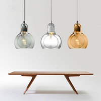 Modern Pendant Lights Glass Lampshade Loft Pendant Lamps E27 for Dinning Room Home Decoration Indoor Lighting
