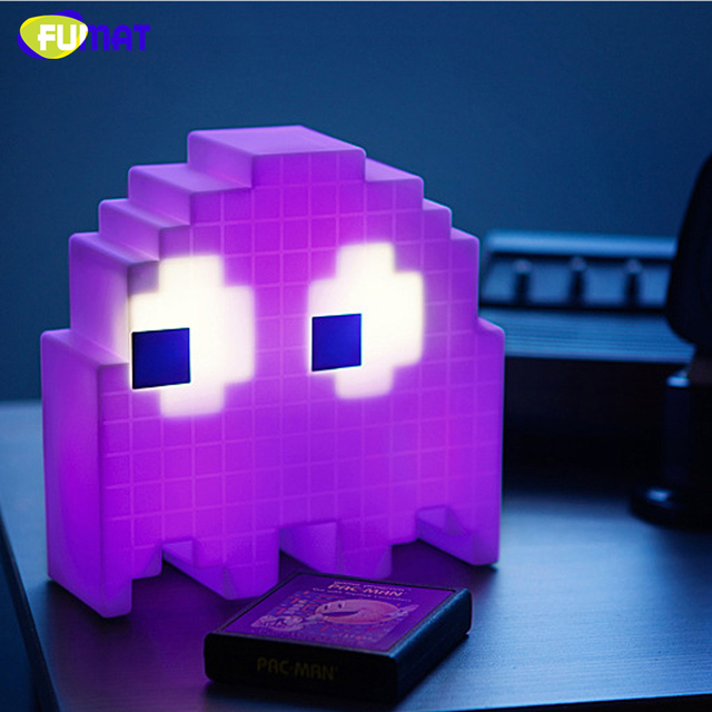 FUMAT Cartoon USB Pac-man Game Theme Color Night Light LED Ghost Lights  Bedroom Kids room Holiday Home Decoration Night Lights 8c417a53e1da