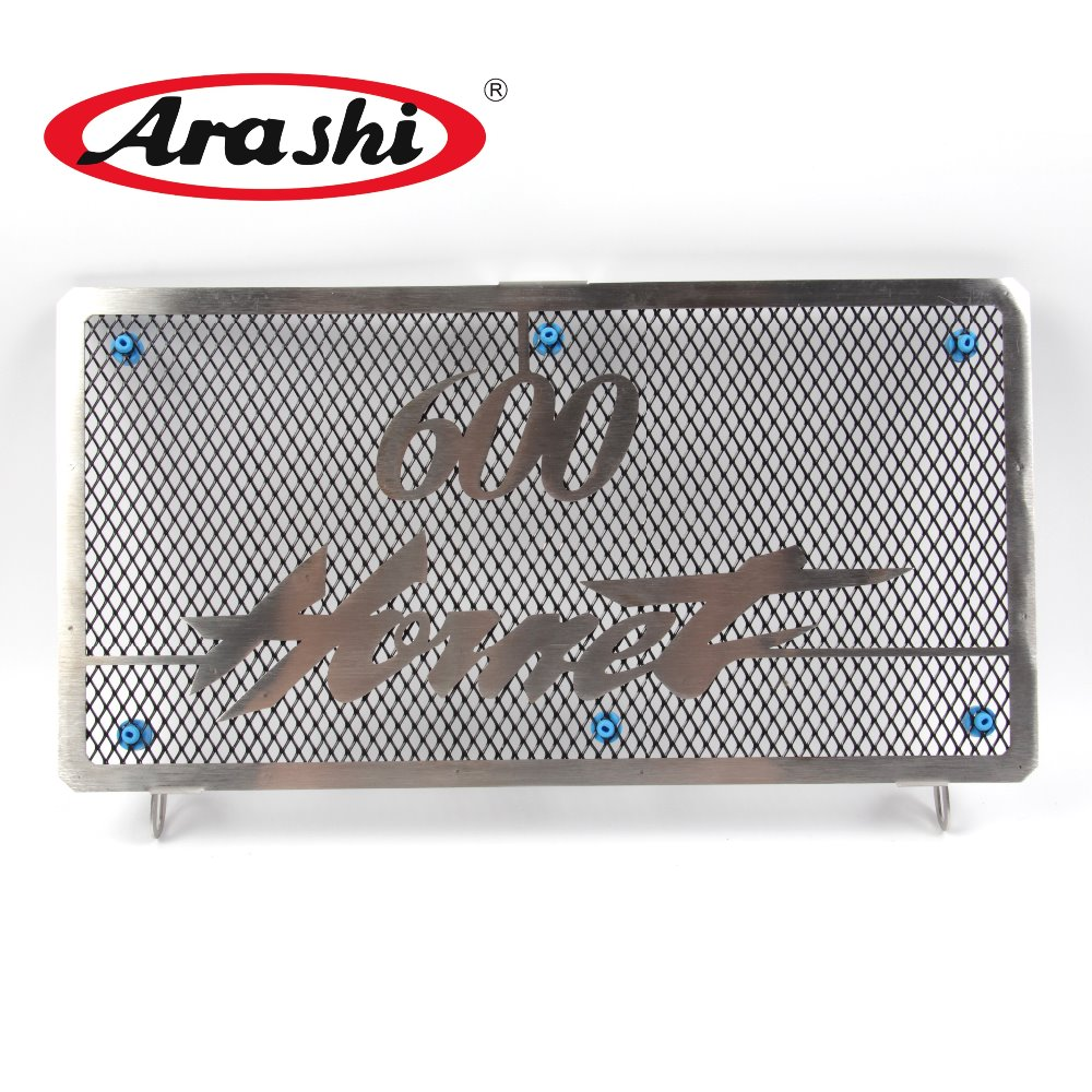 Arashi CB600 Stainless Radiator Grille Guard Cover Protector For HONDA CB600 Hornet 1998 1999 2000 2001 2002 for honda hornet 600 hornet600 cb600 2003 2006 2004 2005 motorcycle accessories radiator grille guard cover fuel tank protection