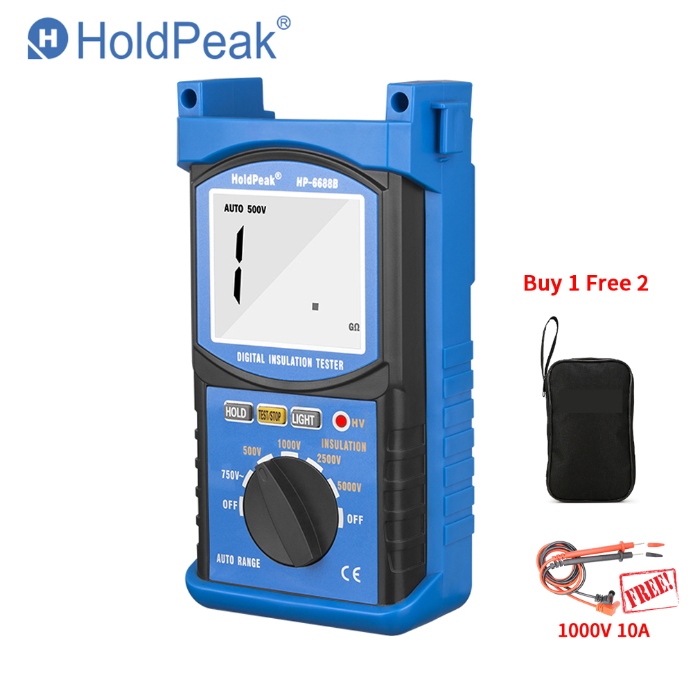 HoldPeak HP 6688B 6688B Insulation Resistance Tester 6688B Protable Digital 1000V 5000V Auto Range ohm tester