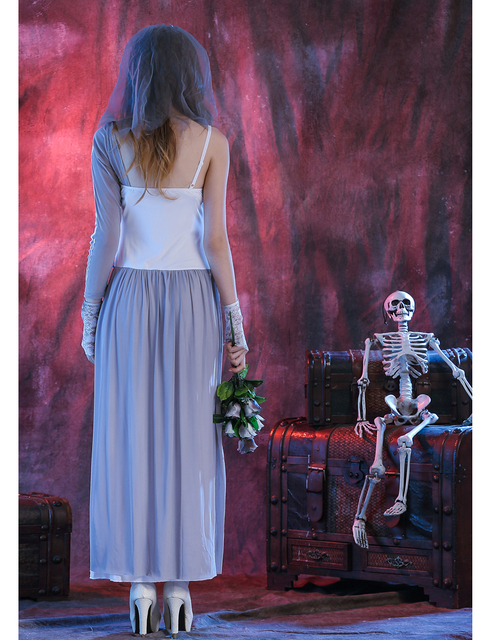 MOONIGHT Ghost Bride Dress Sexy Gothic Manor Zombie Wedding Corpse Costume Adult Costume Halloween 1