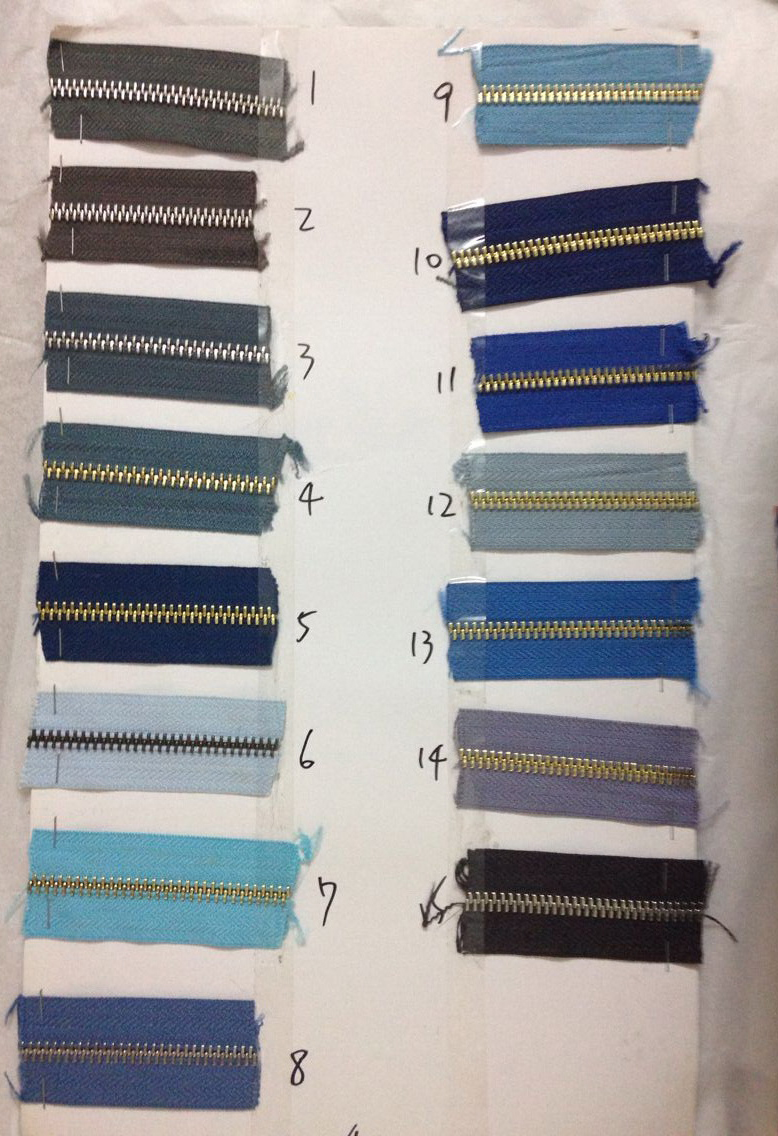 20 yards 5# two way MORE Higher quality Polished copper teeth zipper,Customize color zippers for sewing bags,clothing pants