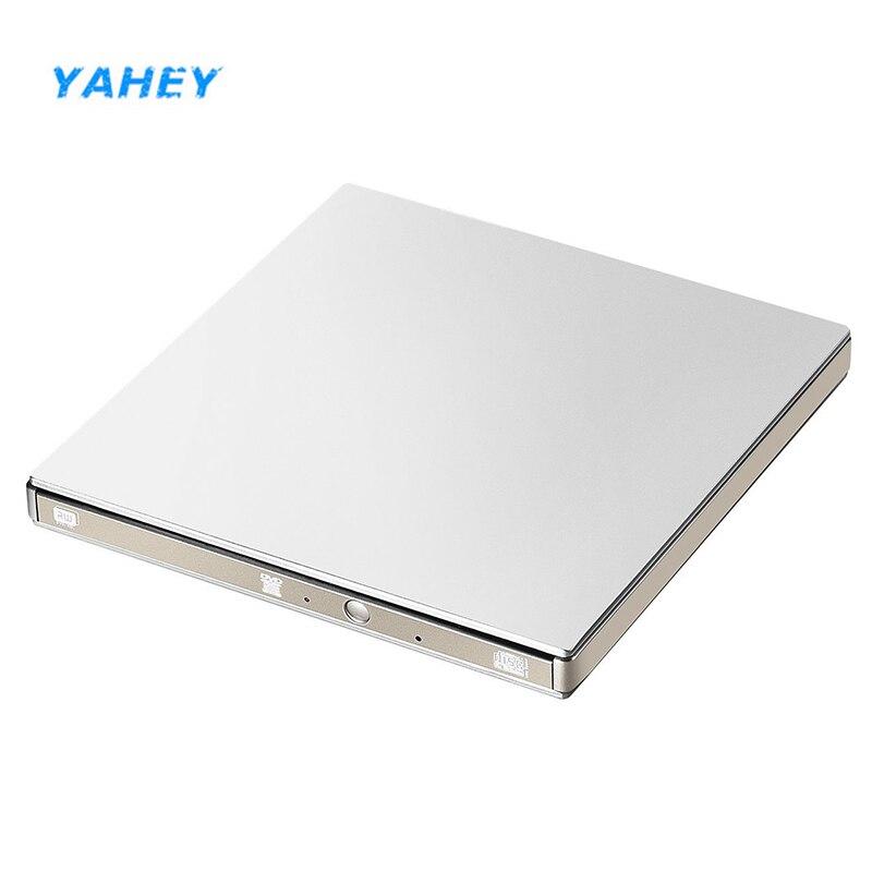 USB 3.0 DVD Enregistreur Lecteur Externe Lecteur Optique CD-ROM Lecteur CD/DVD RW Graveur Écrivain Portable pour Ordinateur Portable Apple Macbook PC