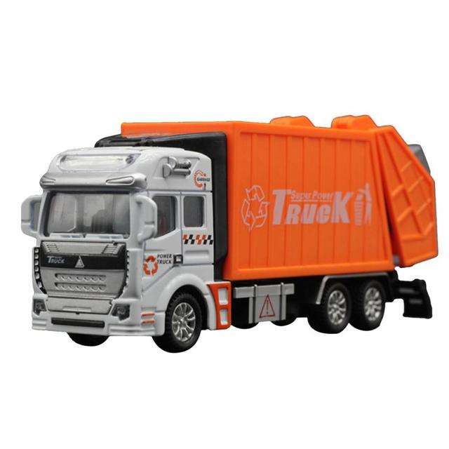 2017 Fashion 1:32 Racing Bicycle Shop Truck Toy Car Carrier Vehicle Garbage Truck Y7824