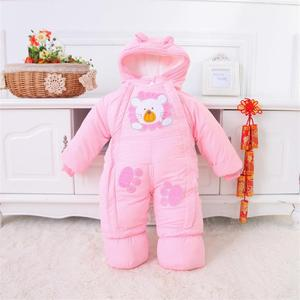Image 5 - Baby Clothes Winter Autumn Style Newborn Baby Rompers New Cotton padded Baby Boys Girls Jumpsuits Cartoon Infant Overalls