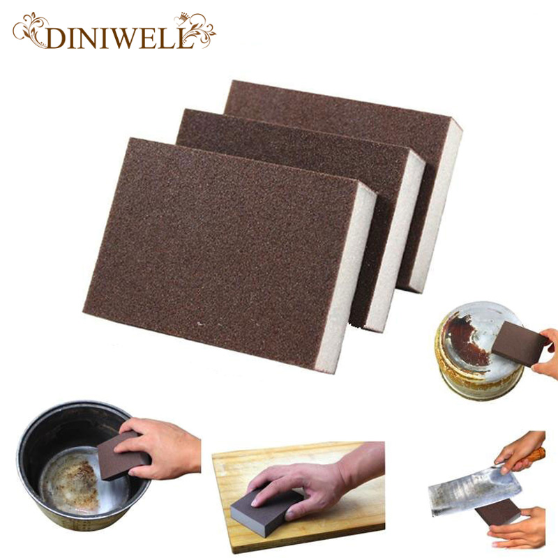 DINIWELL Brown Nano Emery  Clean Magic Super Cookware Eraser Home kitchen Pot Descaling Small Cleaning Sponge Removing Rust Rub