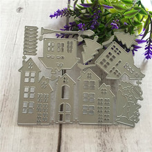 Cutting Dies Christmas house Scrapbooking Dies Metal Crafts Stamps Embossing New 2018 Making Cards Decor naifumodo feather clear stamps and metal cutting dies scrapbooking 2019 new making cards craft dies set embossing decor stencils