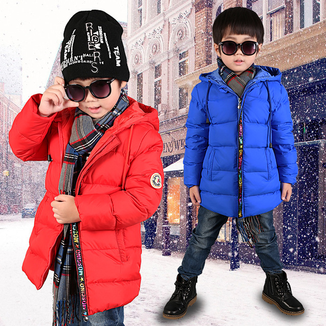 High Quality Boys Thick Down Jacket New Baby Boy Winter Jacket Children Long Warm Coat Clothes Boy Fashion Hooded Down Outerwear