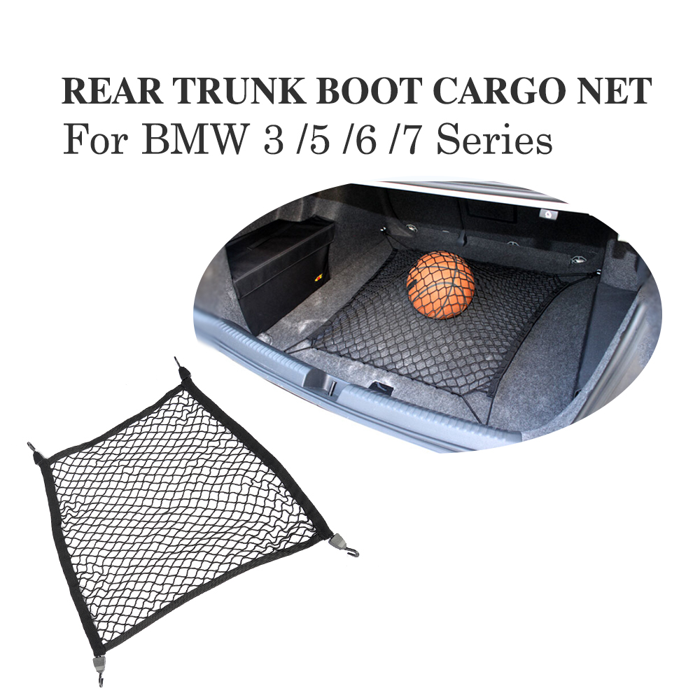 70*50CM Auto Elastic Cargo Net Rear Trunk Boot Cargo Net Mesh Storage For BMW 3 /5 /6 /7 Series For Benz A-Class C-Class Audi Q3 цена