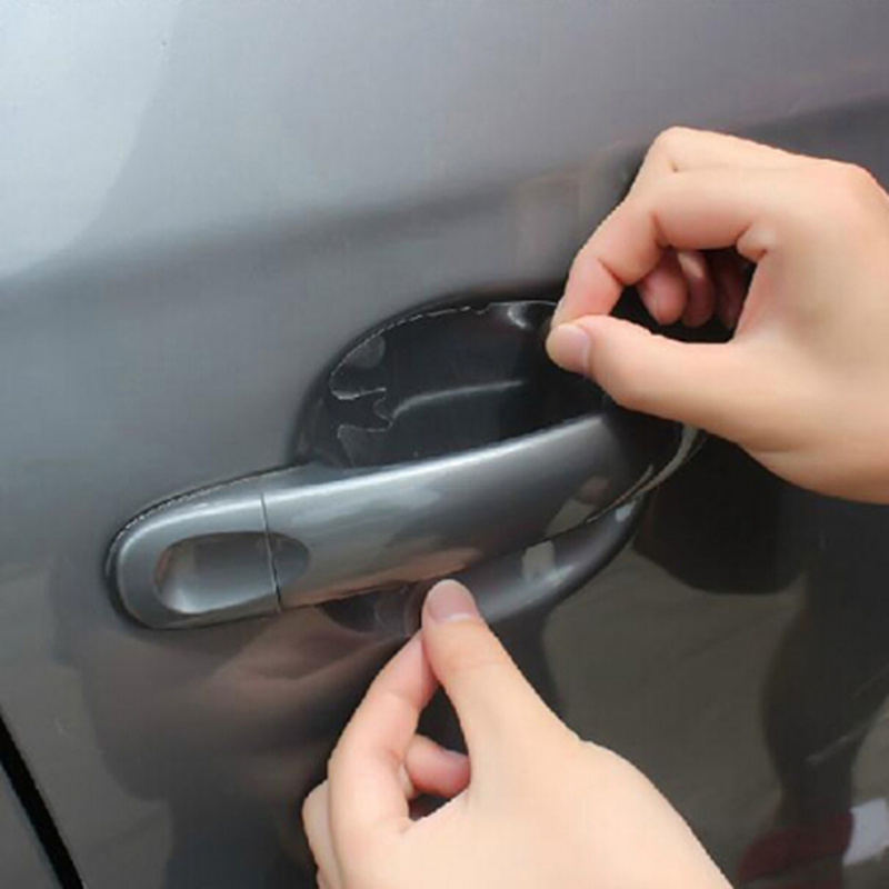 2018 NEW Car door handle stickers protector film for SsangYong Actyon Turismo Rodius Rexton Korando Kyron Musso Sports image