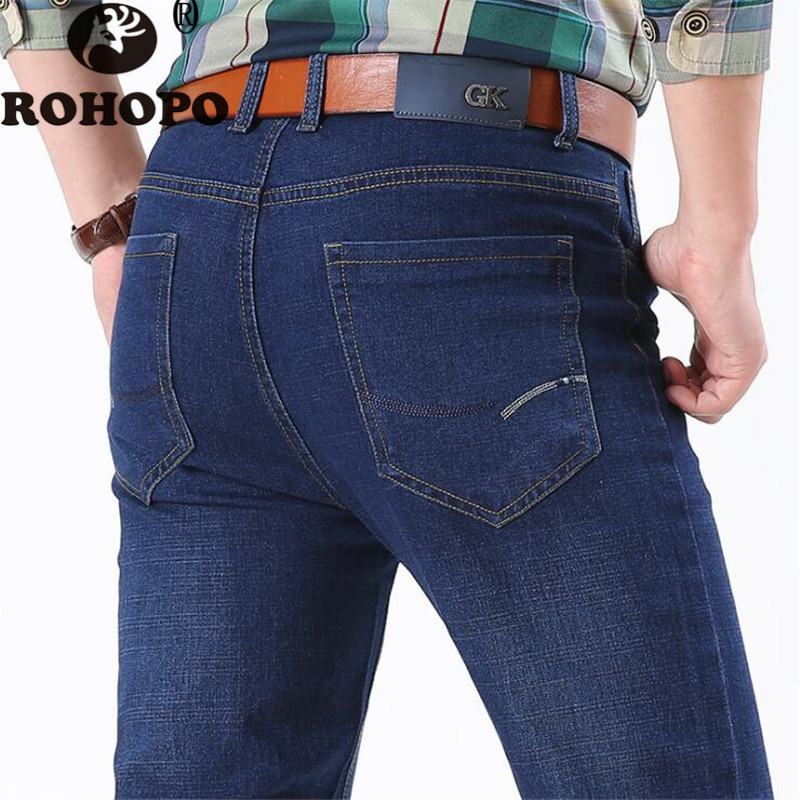 Classic Male Regular Designer Denim Jeans Mid Waist Straight Male Cowboy Denim Trousers Back Pocket Hero Casual Sportswear Jeans
