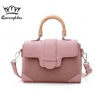 2017 Simple Design Women PU Leather Handbags Shoulder For Women Bag Wooden handle Women Crossbody Bags