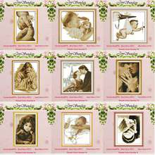 Little Girl Baby Angel counted Cross Stitch 11CT 14CT Cross Stitch Set Wholesale DIY Cross-stitch Kit Embroidery Needlework(China)