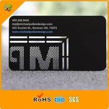 レーザーカット ステンレス鋼マットブラック印刷レーザーカットマット金属名刺シルク印刷メッキ印刷 ピース/ロット) 304