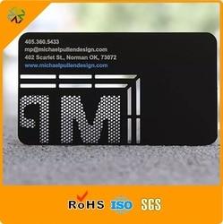 (250pcs/lot)Laser cut 304 stainless steel matte black printable laser cut matte metal business card silk printing plated print