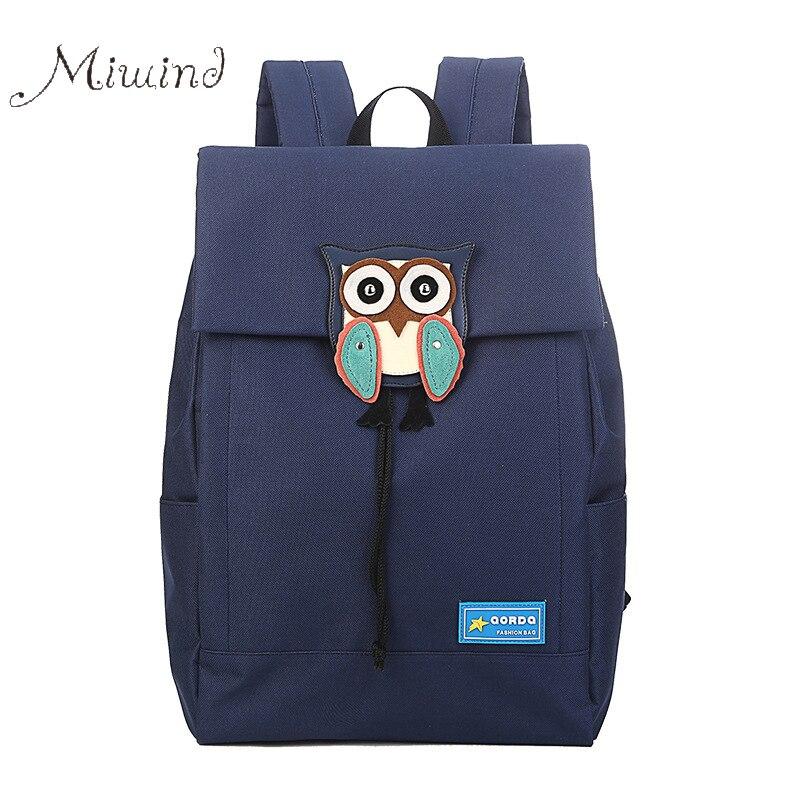 ФОТО High quality canvas backpack owl drawstring rucksacks hasp 2016 preppy designer mochila women men school laptop bag teens girl