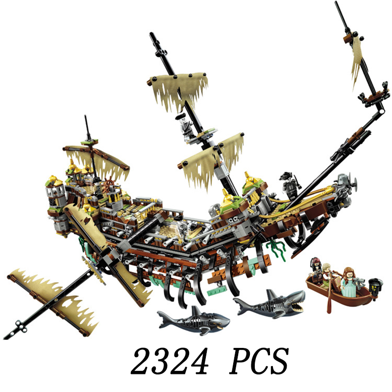 2324pcs Pirates of the Caribbean Silent Mary Battle Ship 10680 Model Building Blocks Bricks Compatible Legoings  kids Toys gifts2324pcs Pirates of the Caribbean Silent Mary Battle Ship 10680 Model Building Blocks Bricks Compatible Legoings  kids Toys gifts
