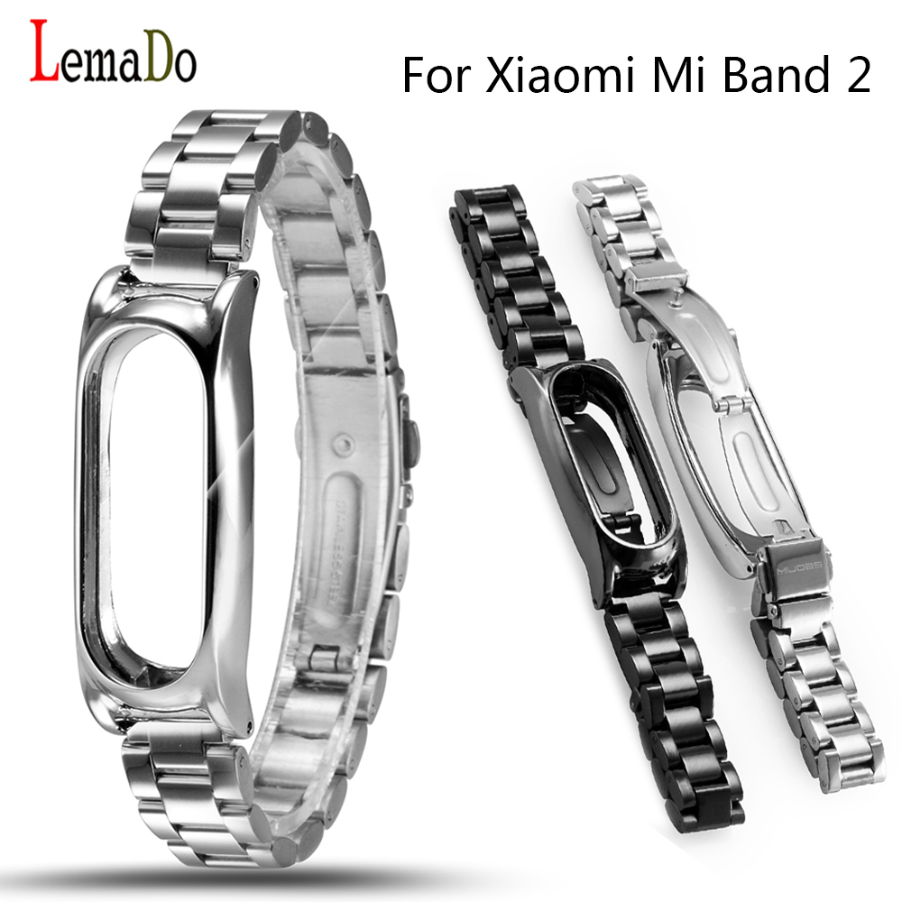 2017 New Metal Strap Plus For MiBand 2 Wristbands Replace Strap For Mi Band 2 Stainless