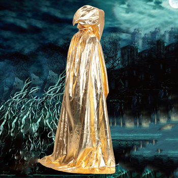 Party & Holiday DIY Decorations Halloween Costume Wizard Cape Mopping Adult Grim Reaper Black Red Silver Golden Cloak 4