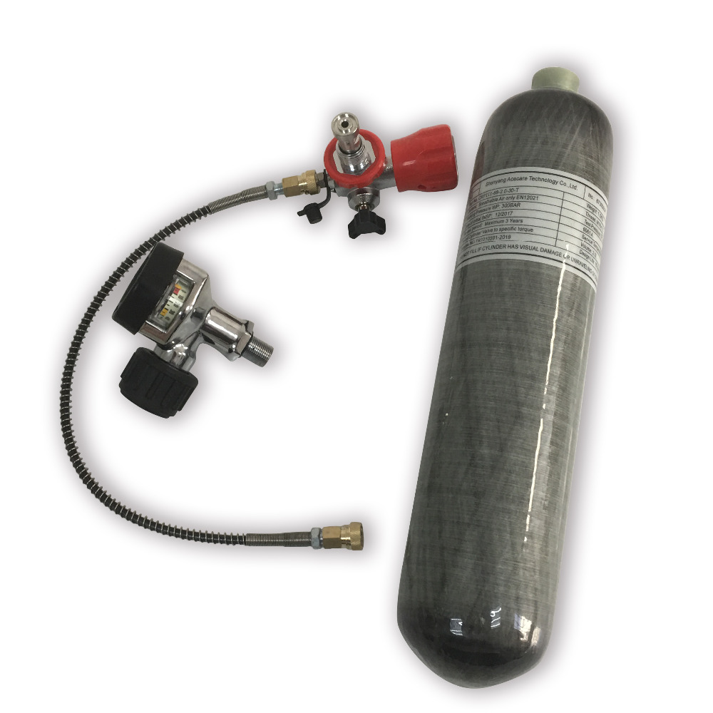 AC103201 Acecare 2L Carbon Fiber Cylinder With Valve And Filling Station For Diving/Air Rifle Hunting/Pneumatic Gun For Shooting