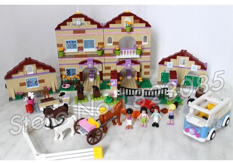 1118 шт. друзья Heartlake летний лагерь для верховой езды 10170 лошади Чемпион Солнце фигура Строительные блоки игрушки совместимы с LegoING - 6