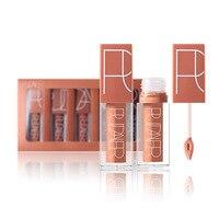 1 Set 2017 New Women Makeup 5 Color Cosmetics Matte Lip Gloss Sexy Lipstick Waterproof Moisturizing