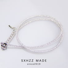 SXHZZ 925 Sterling Silver Link Chains Necklaces Fashion Jewelry Cuban Wholesale Chain DIY Crafts Elegant Women Gift 2019