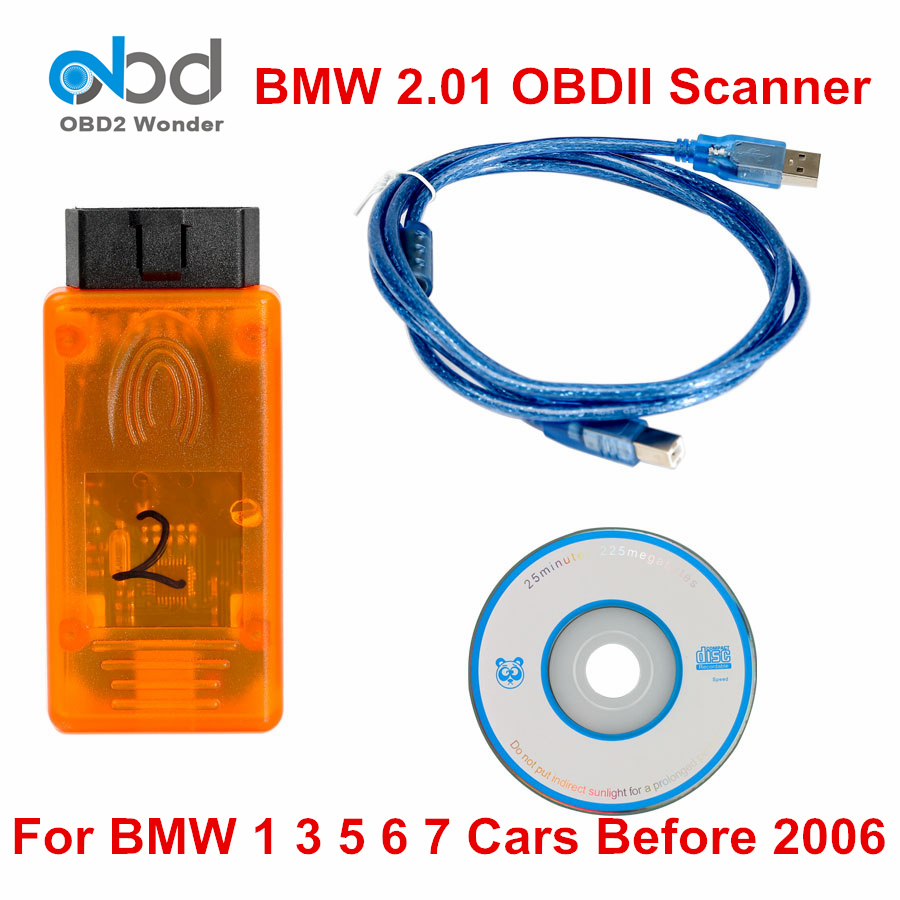 Newly For BMW 2.01 OBD2 Diagnostic Tool OBD II Auto Scanner Interface SW V2.01 Update For BMW 1.4.0 Scanner For BMW 1 3 5 6 7
