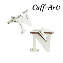 Cufflinks For Men  A-Z Alphabet Cuff links Personality Mix&Match Choose 2 Different Letters With Gift Box By Cuffarts