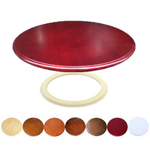 HQ WL Solid Oak Wood Quiet Smooth Lazy Susan Rotating Tray Dining Table Turntable Swivel Wood Table(China)