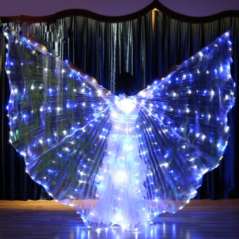 ISIS Butterfly Wings LED Starry Sky Pattern Buterfly Wings For Dance Belly Dance Accessories Stage Performance