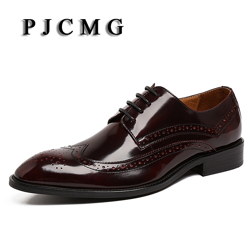 PJCMG High Top Italian Luxury Brand Casual Mens Dress Shoes Genuine Leather Design Flats For Men Party Size: 6-10