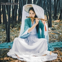 2019 traditional chinese style hanfu womens tang suit costume Chinese Traditional Costume Ancient Tang Dynasty