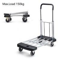 Heavy Roller Personal Hand Truck Cart Moving Duty Platform