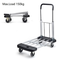 Heavy Roller Personal Hand Truck Cart Moving Duty Platform